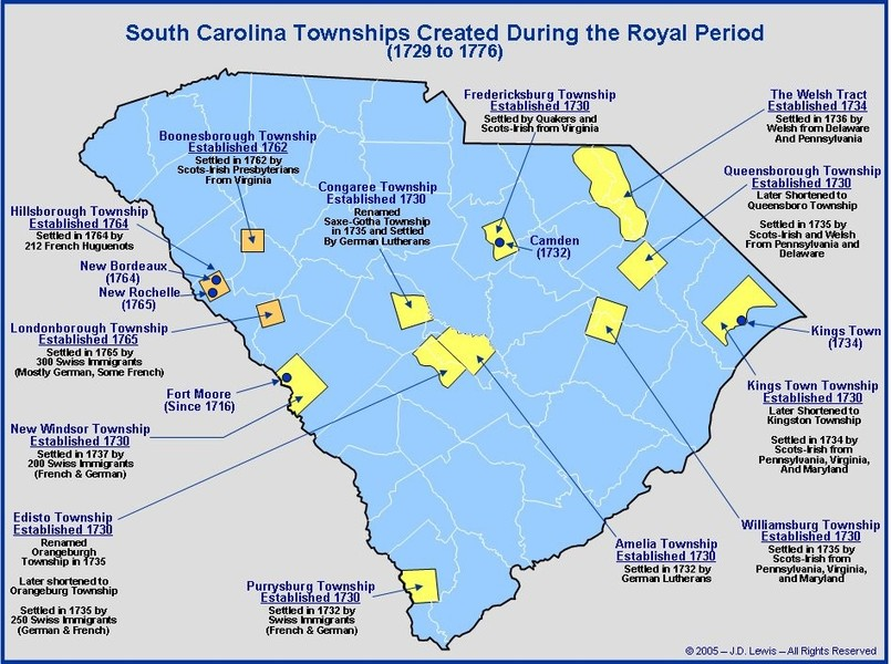 Uchee Indian Tribal Nation - (2) SC Colonial Maps